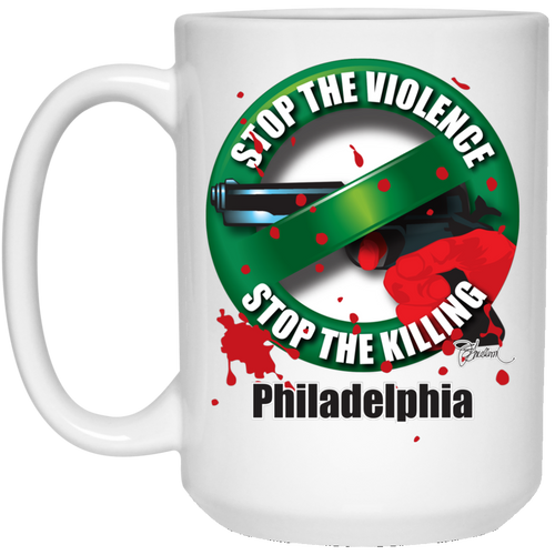 Stop the Killing Philadelphia - 15 oz. White Mug