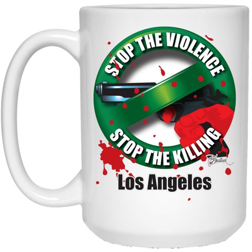 Stop the Killing Los Angeles - 15 oz. White Mug