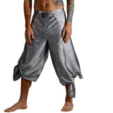 'Wrap Pants' Silk - Silver - zootzu