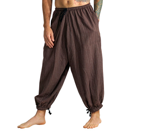 Baggy Pirate Pants - Striped Brown