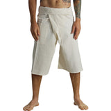Short Thai Fisherman Pants - Natural/Cream - zootzu