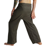 Thai Fisherman Pants - Striped Green - zootzu