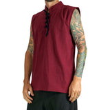 'Rogue' Medieval Sleeveless Shirt - Red - zootzu