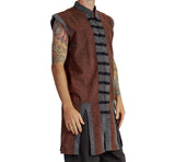 Long Pirate Vest - Stonewashed Brown - zootzu
