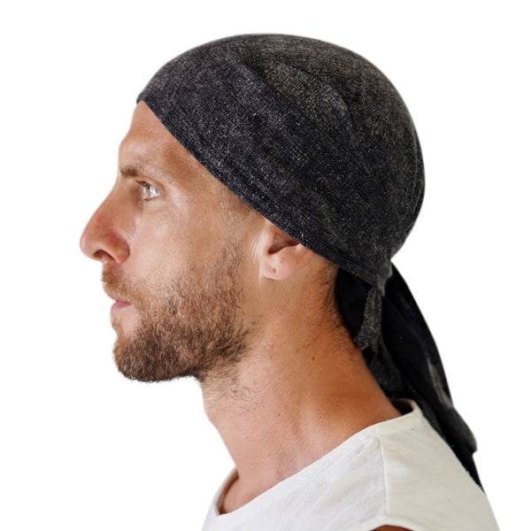 'Pirate Bandana' Medieval Hat - Stone Black/Gray - zootzu