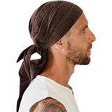 'Pirate Bandana' Medieval Hat - Stone Brown - zootzu