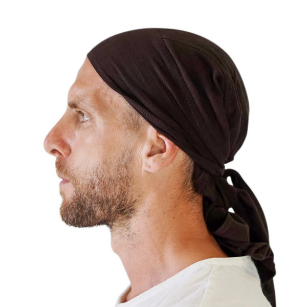 'Pirate Bandana' Medieval Hat - Brown - zootzu