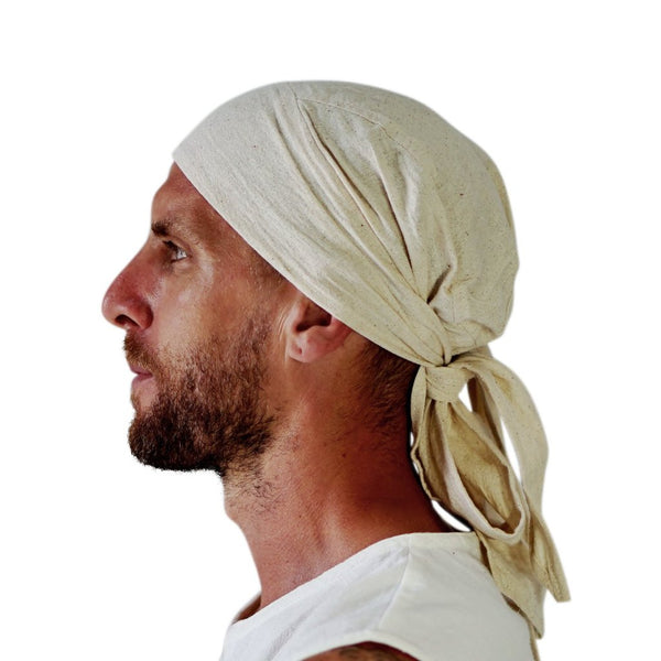 'Pirate Bandana' Medieval Hat - Natural - zootzu