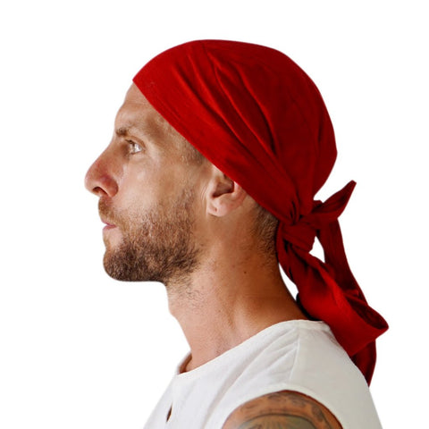 'Pirate Bandana' Medieval Hat - Red