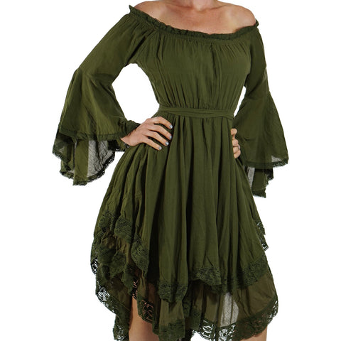 Green Lace Dress Long Sleeve