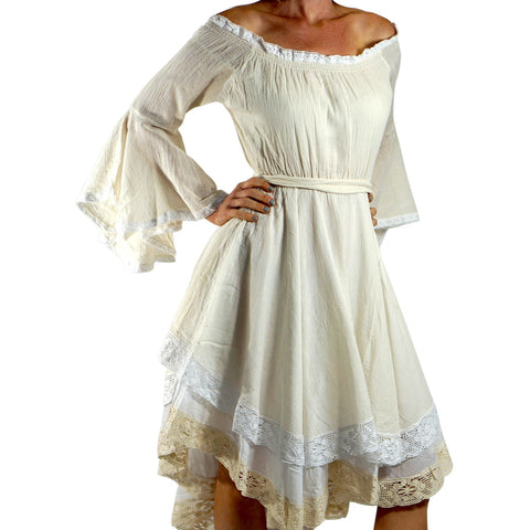 Cream Lace Dress Long Sleeve