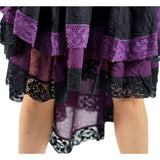 Black/Purple Lace Dress Long Sleeve - zootzu
