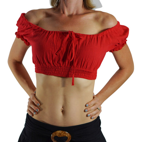 'SS Pull Tie' Gypsy Top - Red