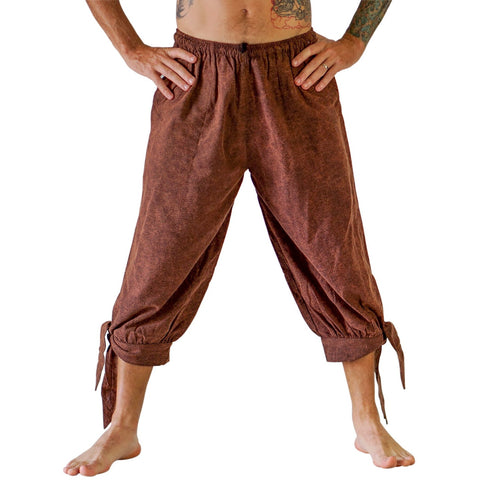 'Buccaneer' Pirate Pants - Stonewashed Brown