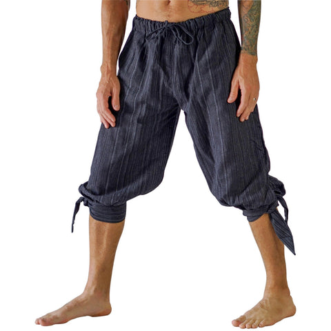 'Buccaneer' Pirate Pants - Striped Black