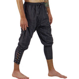 Ankle Cuff Medieval Pants - Striped Black - zootzu