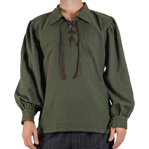 'Merchant' Renaissance Pirate Shirt - Green