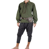 'Merchant' Renaissance Pirate Shirt - Green - zootzu