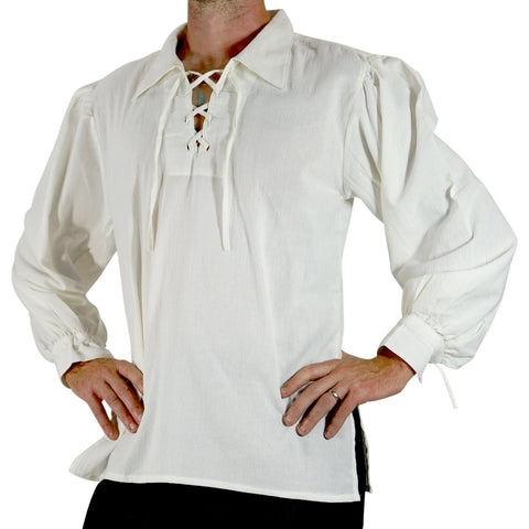 'Merchant' Renaissance Shirt - Cream/Off White