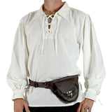 'Merchant' Renaissance Shirt - Cream/Off White - zootzu