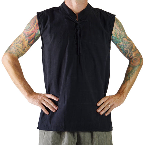 'Rogue' Medieval Sleeveless Shirt - Black