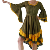 Green/Yellow Lace Dress Pirate Long Sleeve - zootzu