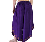 'Split' Indian Rayon Harem, Belly Dancer Pants - Dark Purple