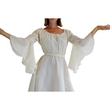 'Bell Sleeve' Renaissance Costume Dress - Cream - zootzu