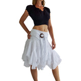 'Willow' Gypsy Pirate Skirt - White - zootzu