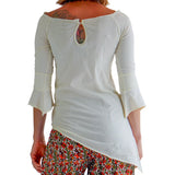 'Spirit' Womens Pirate Gypsy Shirt - Cream - zootzu