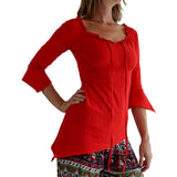 'Spirit' Womens Pirate Gypsy Shirt - Red - zootzu