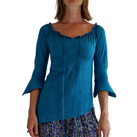'Spirit' Womens Pirate Gypsy Shirt - Teal