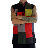 'Rogue' Medieval Sleeveless Shirt - Patchwork - zootzu