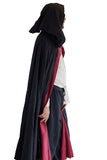 'Hooded Cloak' - 2 Layers - Black/Red - zootzu