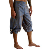 'Wrap Pants' Silk Blue/Silver - zootzu