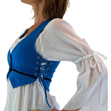 'Petal Vest' Burning Man Festival - Light Blue - zootzu