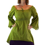 'Juliet' Pirate Chemise - Apple Green - zootzu