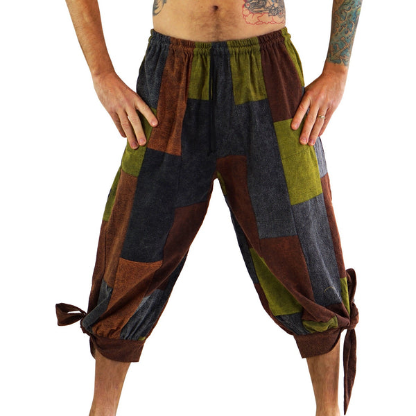 'Buccaneer' Pirate Pants - Stonewashed Patchwork - zootzu
