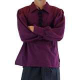 'Merchant' Renaissance Shirt - Wine Purple - zootzu