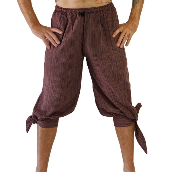 'Buccaneer' Pirate Pants - Striped Brown - zootzu