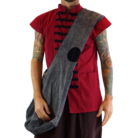 'MONK BAG' Messenger - GRAY/BLACK