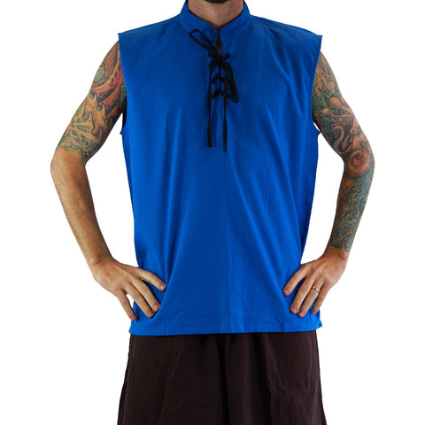 'Rogue' Medieval Sleeveless Shirt - Blue