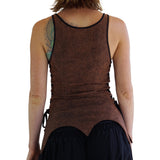 'Long Petal Vest' Viking Bodice - Stone Brown - zootzu