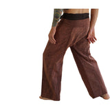 Thai Fisherman Pants - Stonewashed Brown - zootzu