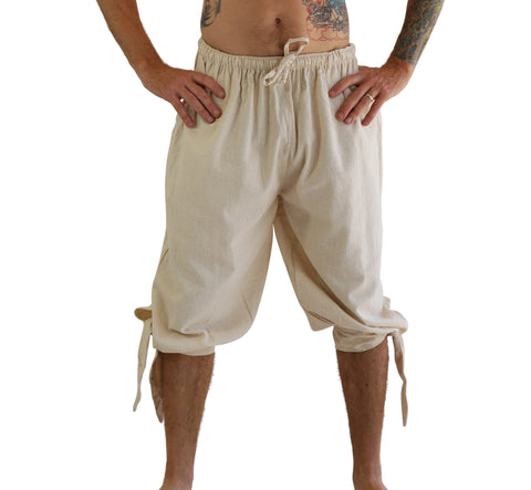 'Buccaneer' Pirate Pants - Natural/Off White
