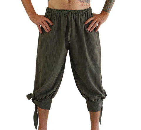 'Buccaneer' Pirate Pants - Striped Green