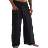 Thai Fisherman Pants - Striped Black - zootzu