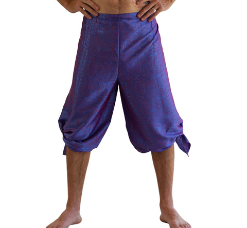 'Wrap Pants' Silk - Purple Sheen