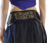 Midnight' - Boho  Leather Utility Belt -  Black/Brown - zootzu