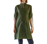 'Sage' Long Chemise, Womens Medieval Shirt - Fern Green - zootzu